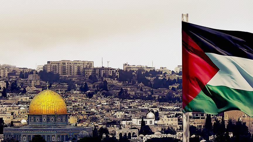 Bandera de Palestina en Jerusalén Este. (Archivo - Agencia Anadolu)